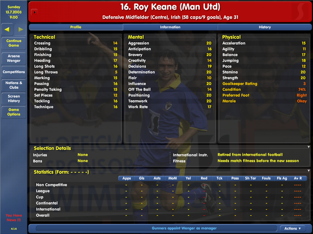 roy keane 03-04