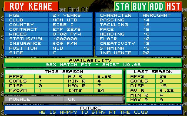 roy keane 94-95