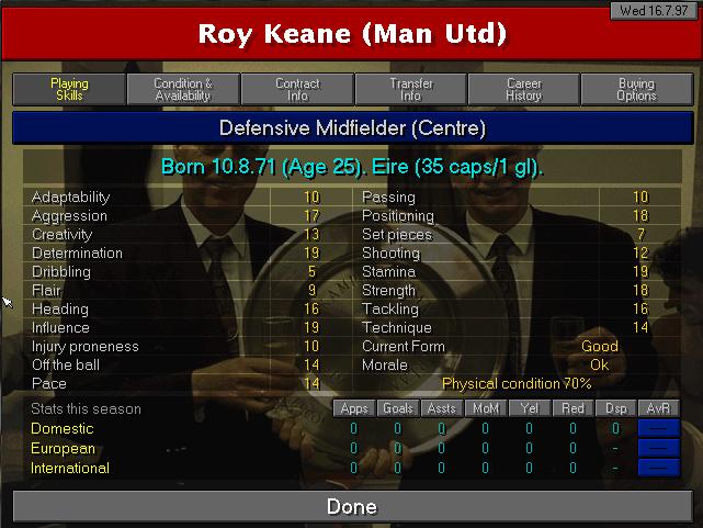 roy keane 97-98